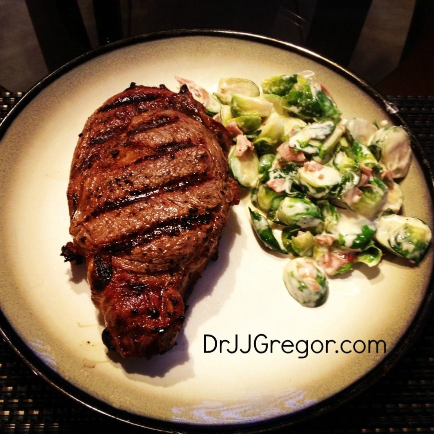 Grass Fed Ribeye & Brussels Sprouts